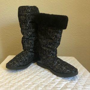 Coach boots Waterproof Black size 10